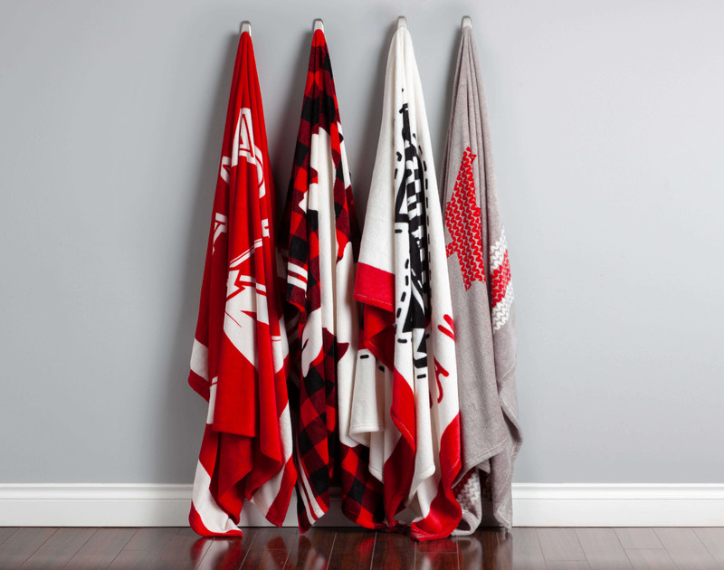 Canada Fleece Throws come in four different designs.