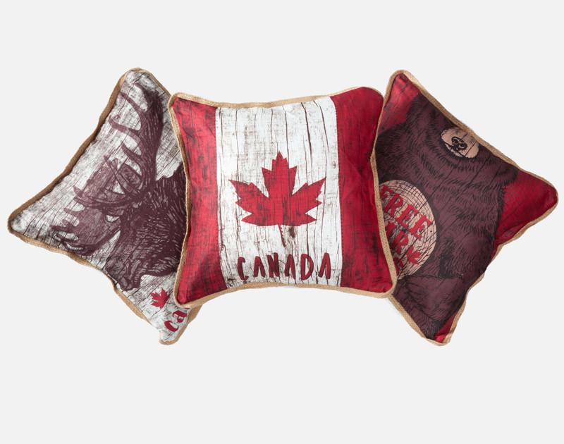 Bear Hug - Linen Look Square Cushion Cover