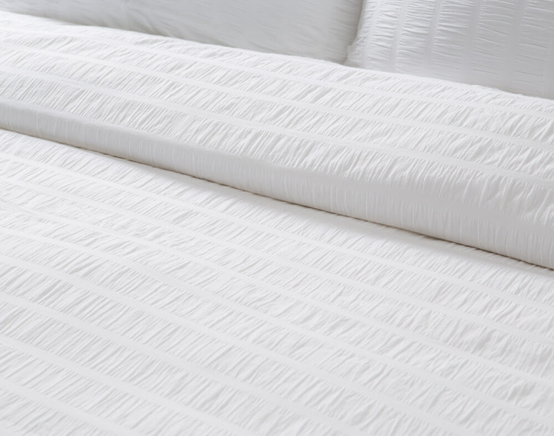 Close up of Kailua Bedding Collection texture