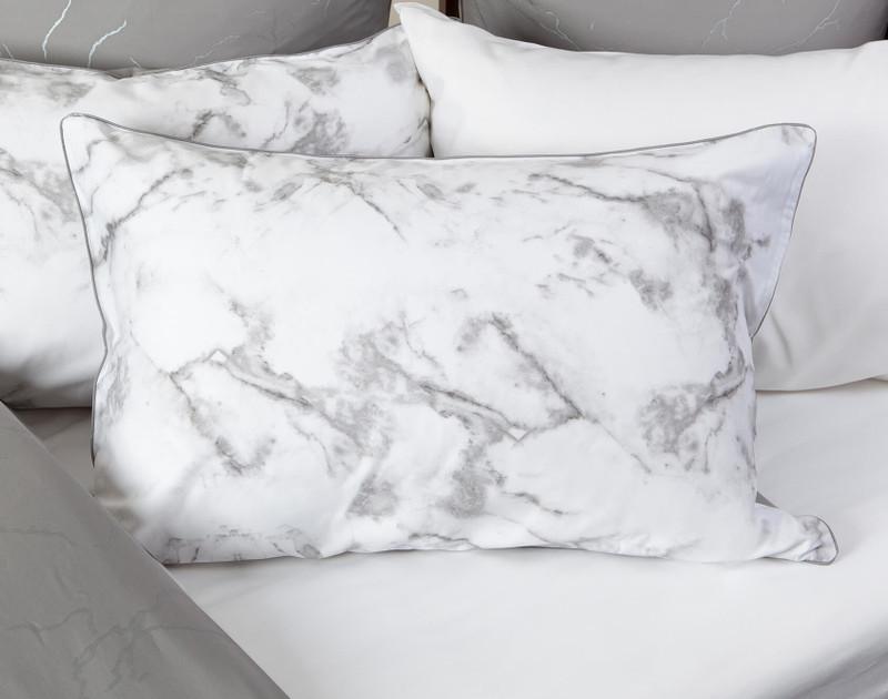 Merano Pillow Shams on bed
