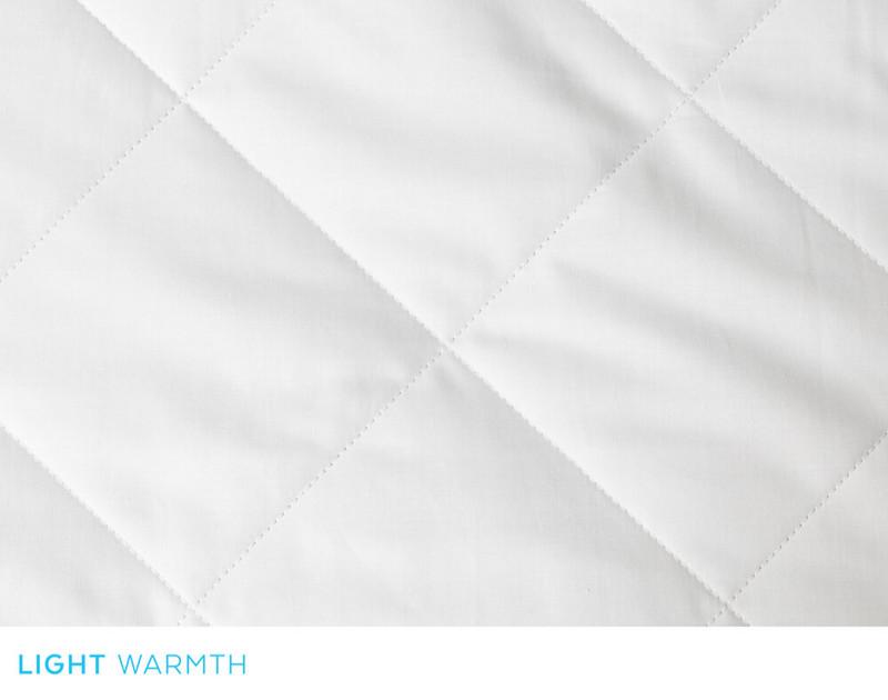 Savannah Light Weight Silk Duvet, box stitch