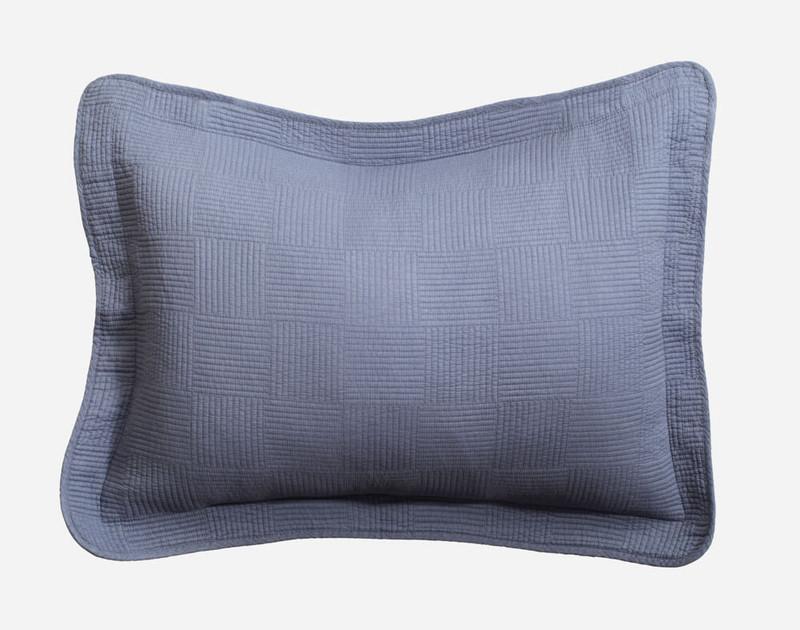 Kenzie Cotton Quilt Set in Waterway pillow sham