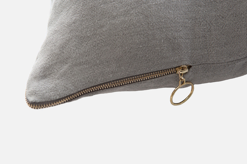 Sheldon Square Cushion Cover zipper close-up