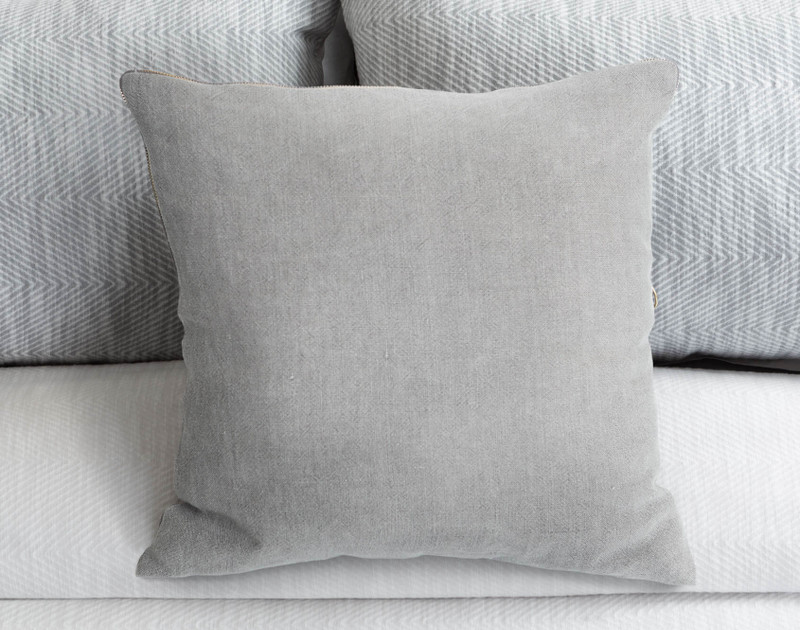 Sheldon Square Cushion Cover on bed