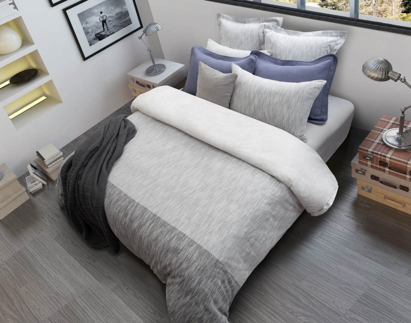 Sheldon Bedding Collection in white bedroom