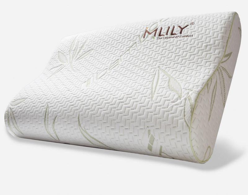 MLILY® Bamboo Contour Memory Foam Pillow.