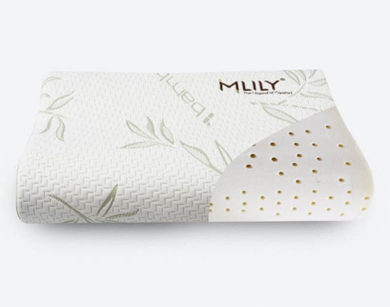MLILY® Bamboo Contour Memory Foam Pillow filling material view.