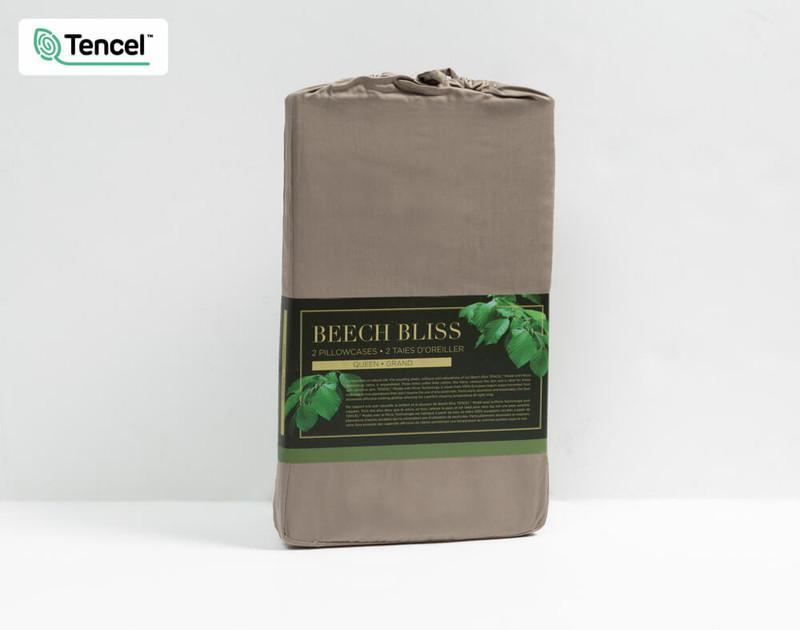 BeechBliss Modal Pillowcase Packaging in Porcini Brown