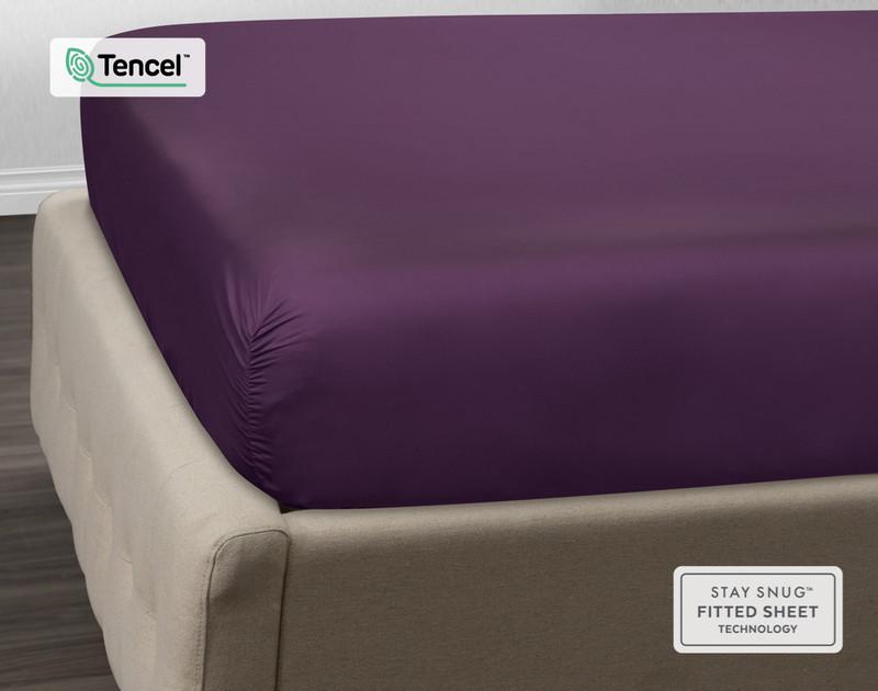 BeechBliss TENCEL™ Modal Fitted Sheet - Dewberry