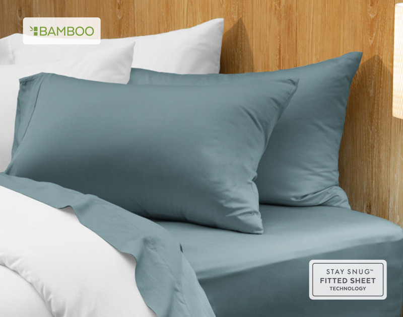 Bamboo Cotton Pillowcases - Spruce (Set of 2)