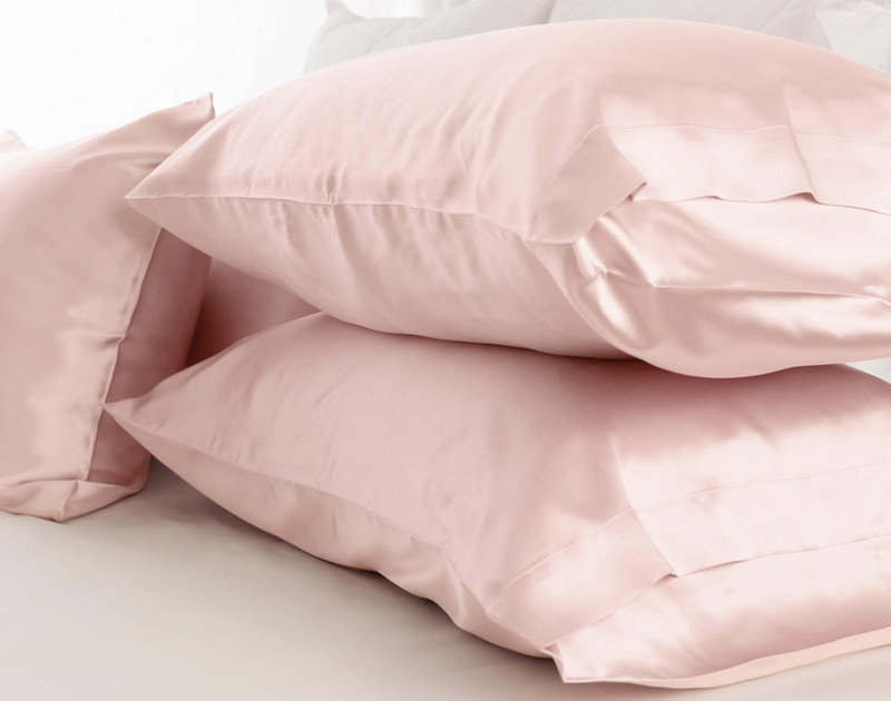 100% Silk Pillowcase - Blush (Sold Individually)