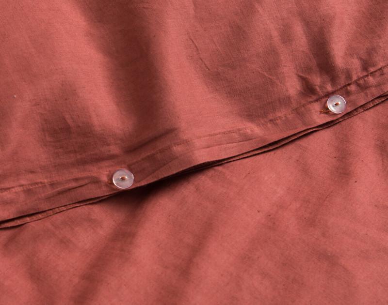 Linen Blend Duvet Cover Close Buttons
