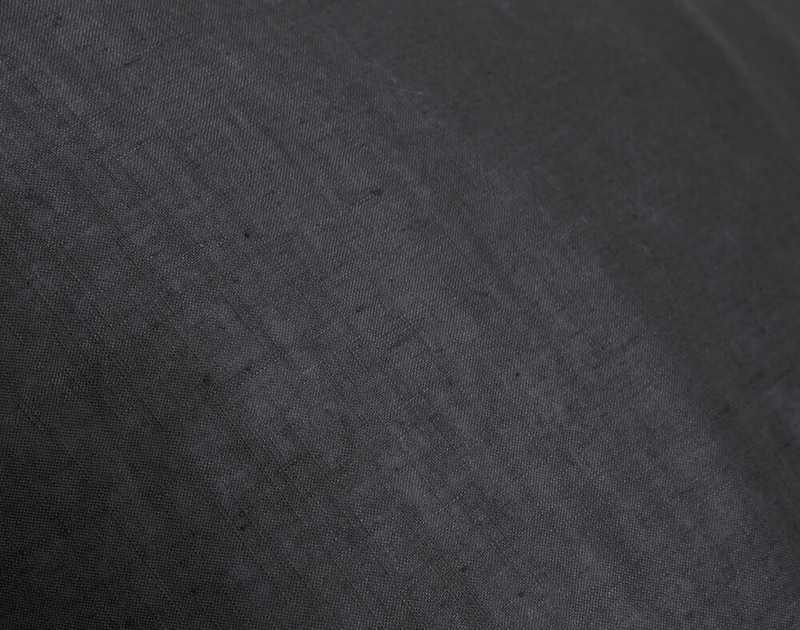 Close-up of Linen Blend Duvet Cover in Charcoal Grey