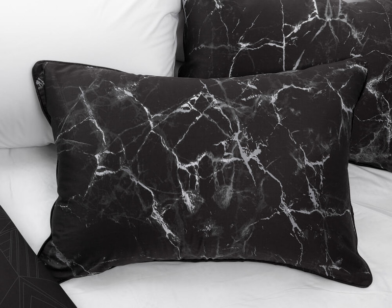 Inkstone Pillow Sham pictured with Eucalyptus Luxe sheeting in White.