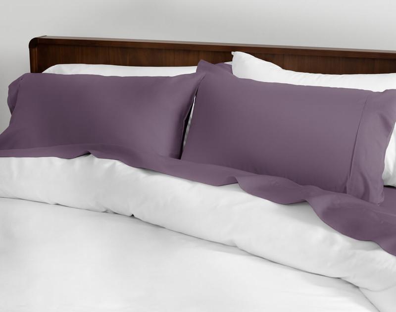 Cotton Sateen Sheet Set in Purple