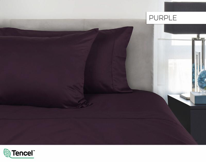300TC TENCEL™ Lyocell Blend Sheet Set in Purple