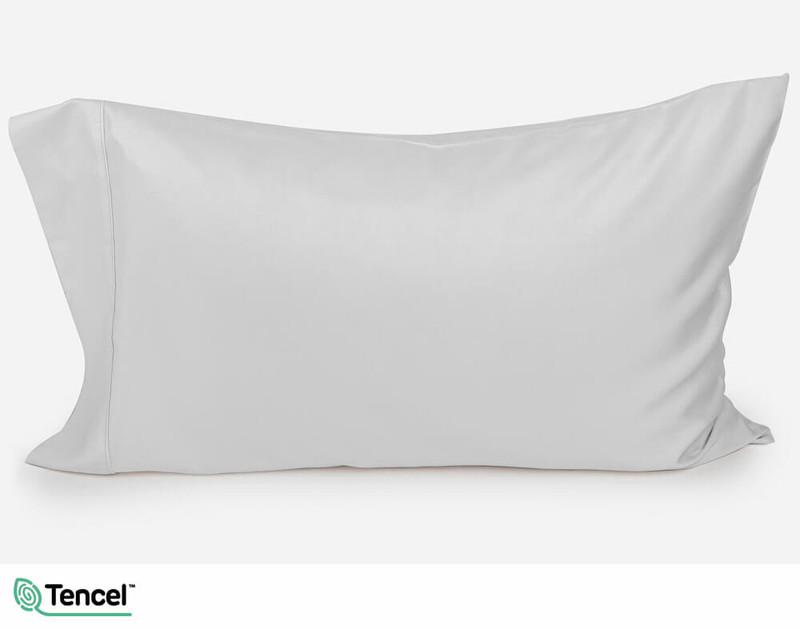 300TC TENCEL™ Lyocell Blend Pillowcase in Mist, a light silver grey colour