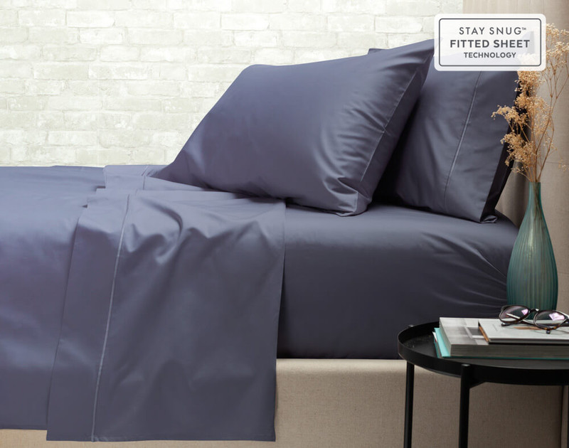 Supima® Cotton Sheet Set in Sapphire, a dark blue.