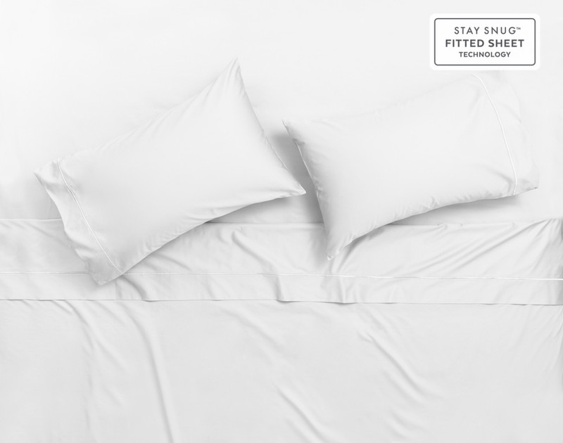 Supima® Cotton Sheet Sets in White.