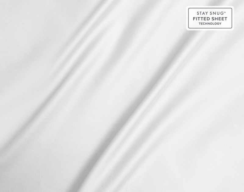 Close of of sheen on Supima® Cotton Sheet Sets in White.