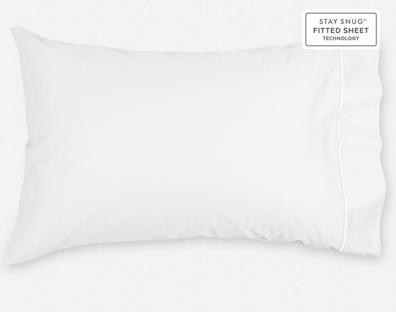 Supima® Cotton Pillowcase in White.