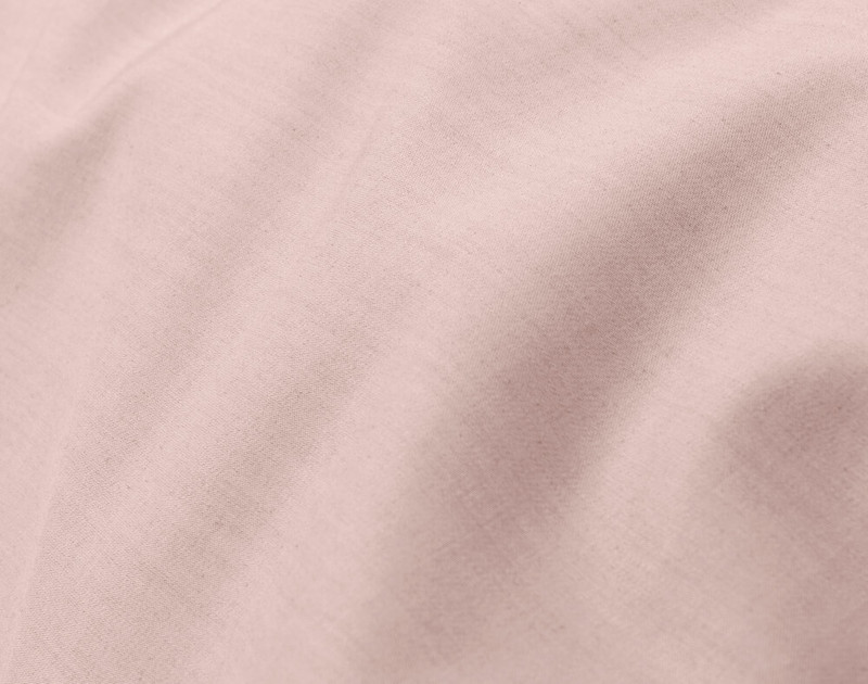 Close-up of Blush Bamboo Cotton Duvet Cover, a soft pink.