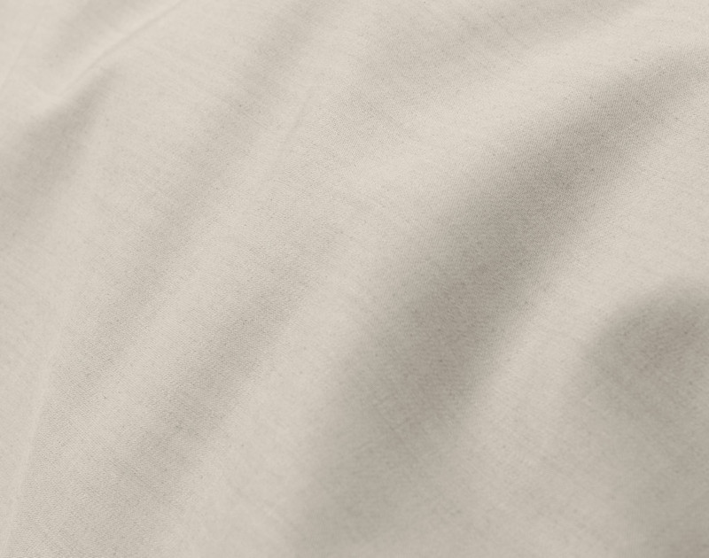 Close-up of Driftwood Bamboo Cotton Duvet Cover.