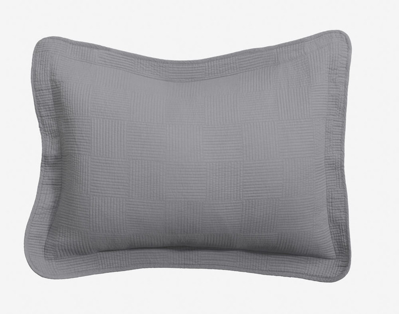 Kenzie Pillow Sham in Sleet Grey