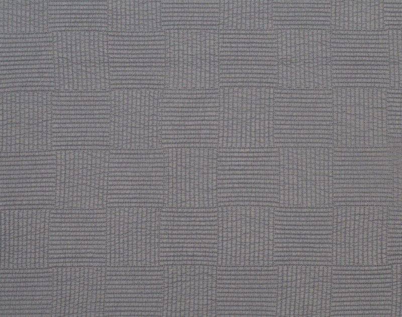 Close up of pattern on Kenzie Cotton Quilt Set in Sleet Grey