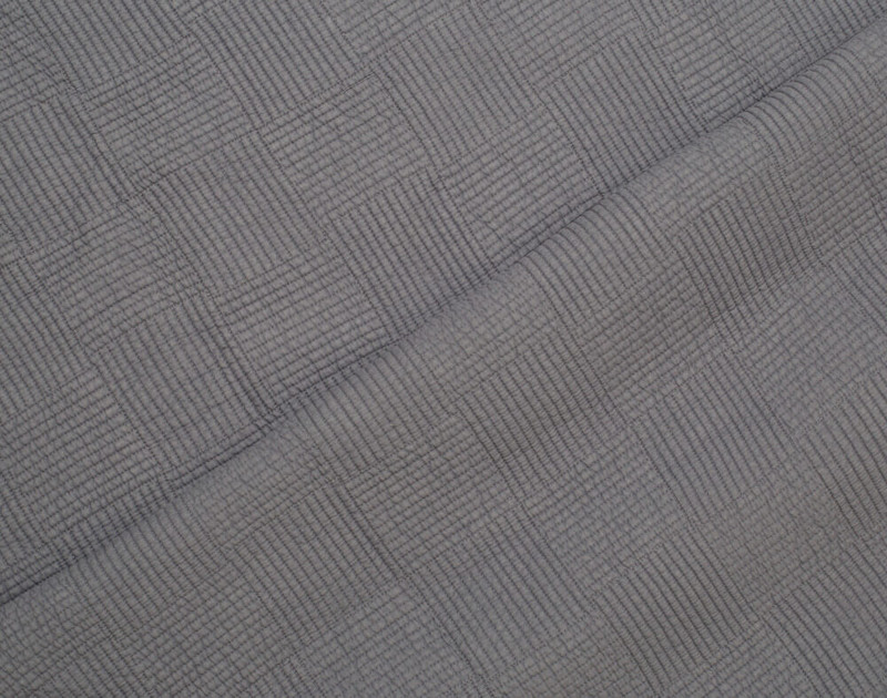 Close up of front and reverse on Kenzie Cotton Quilt Set in Sleet Grey.