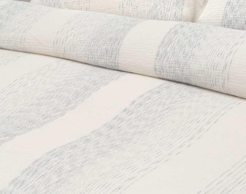 Close up of pattern on Mimeo Bedding Collection