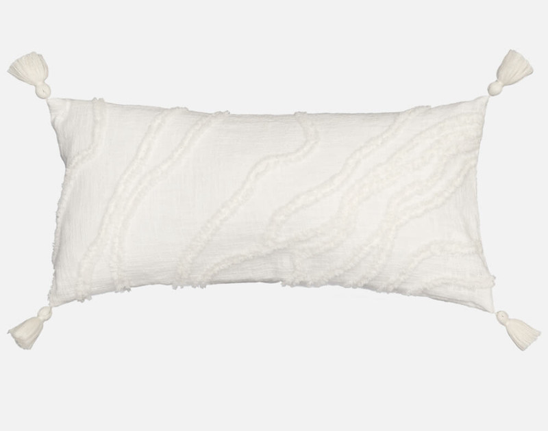 Mimeo Boudoir Pillow Cover is white with texture