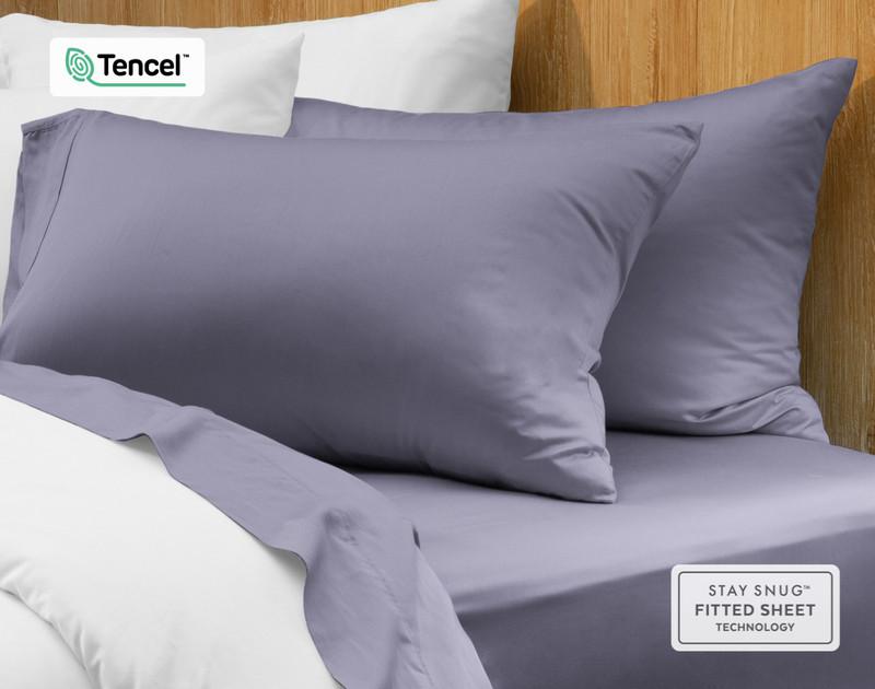 Eucalyptus Luxe Pillowcases - Indigo (Set of 2)