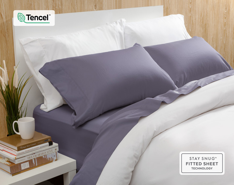 Eucalyptus Luxe Sheet Sets are highly breathable and temperature regulating.