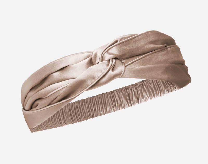 100% Silk Twist Headband in Bronze.
