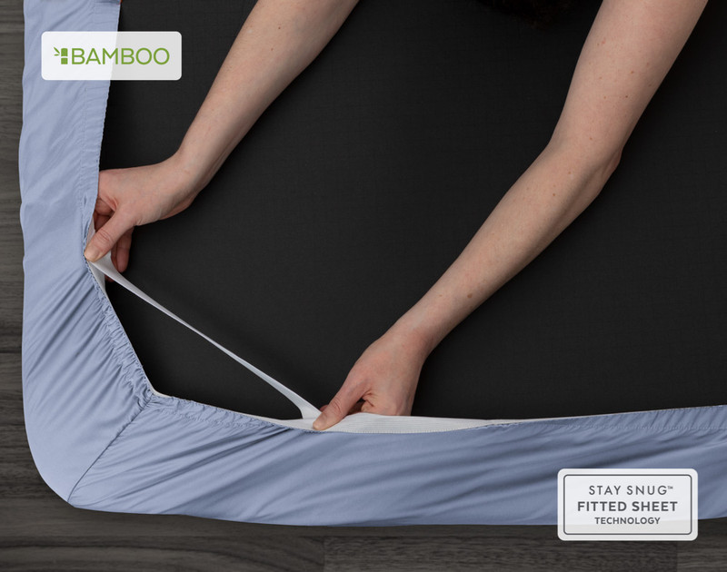 Bamboo Cotton Fitted Sheet - Marina Blue
