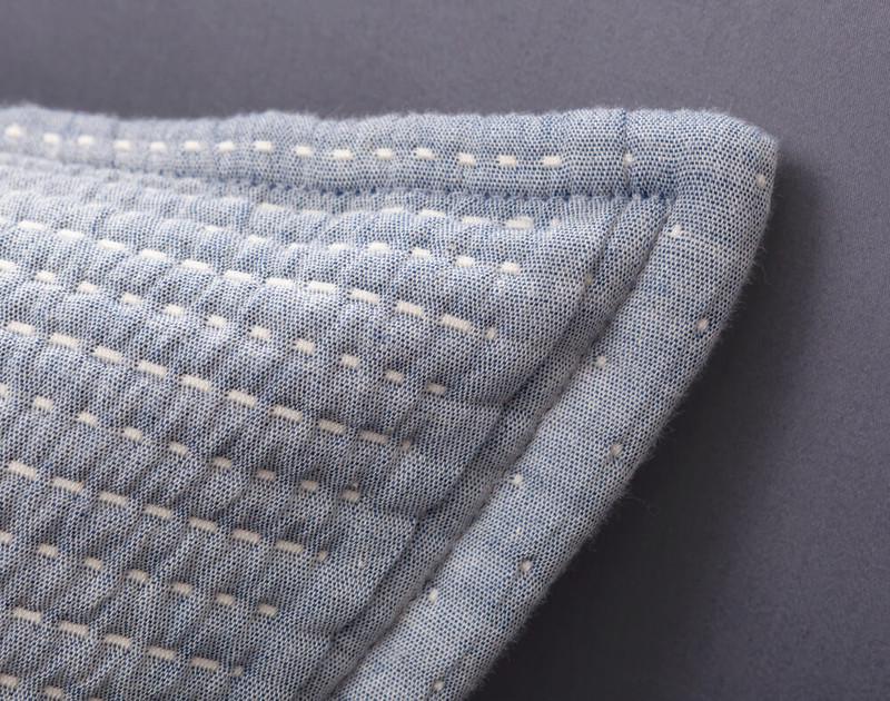 Close up of cotton-pick stitch on Santos Euro Sham.