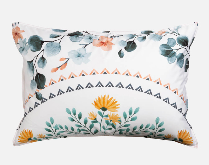 Estelle Pillow Shams are finished with a small self flange.