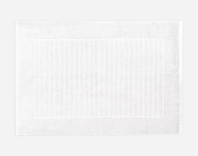 Modal Bath Mat in White.