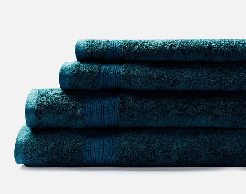 Modal Cotton Towels in Deep Teal.