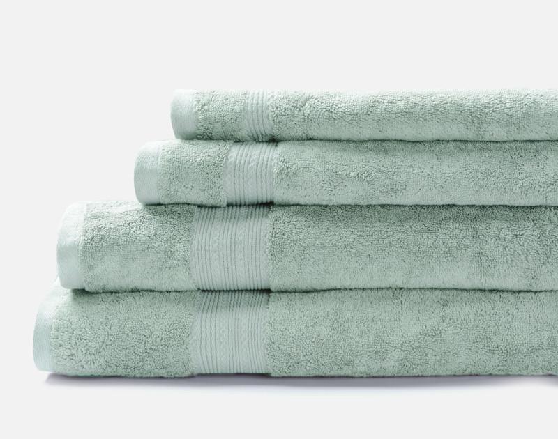 TENCEL™ Modal Cotton Towels in Seafoam Green.