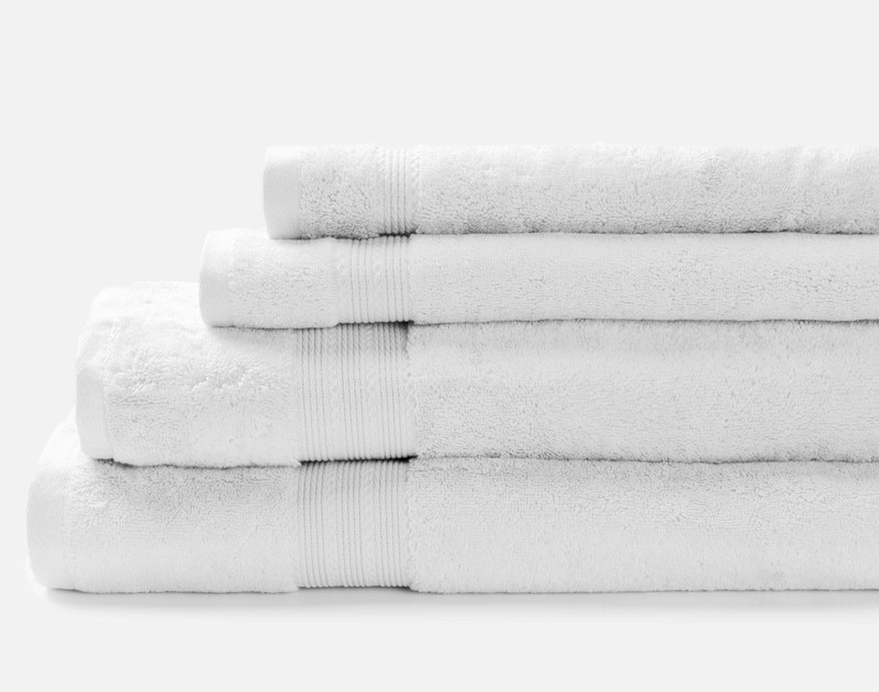 Modal Cotton Towels in White.