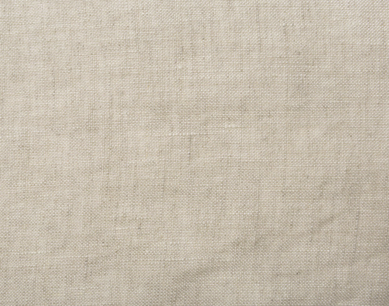 Close up view of slubs on Vintage Washed European Linen Pillowcase.