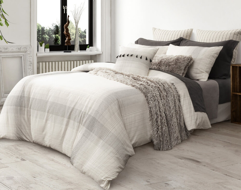 Mitchell Duvet Cover, side view.