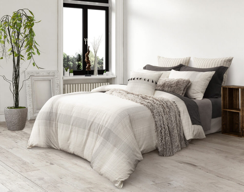 Mitchell Bedding Collection, side view.