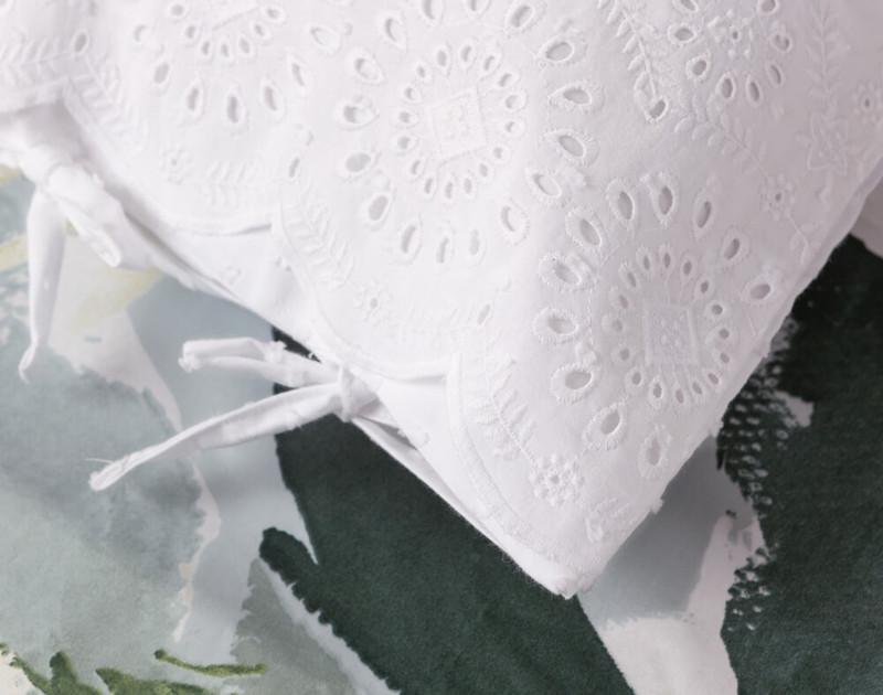 Close up of Rosanna Boudoir Cushion Cover corner edge.