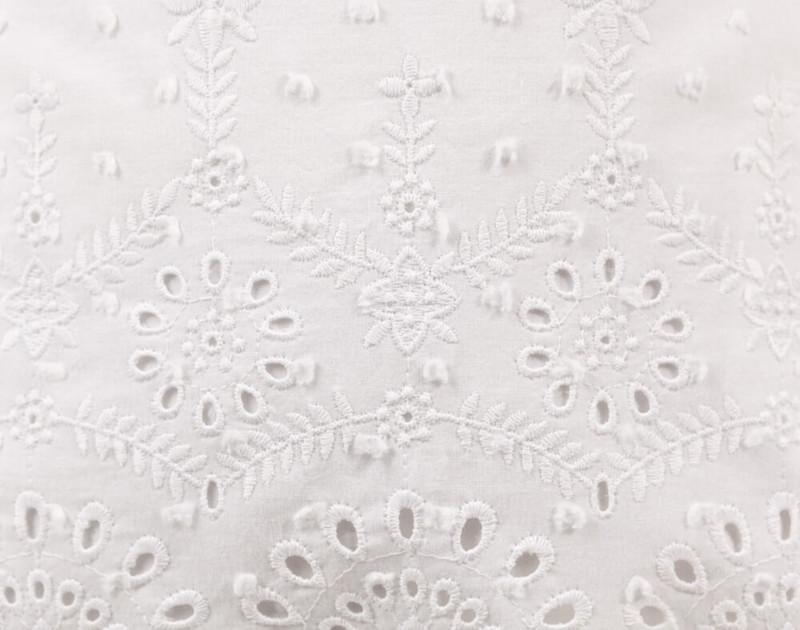 Close up of eyelet design on Rosanna Boudoir Cushion Cover.