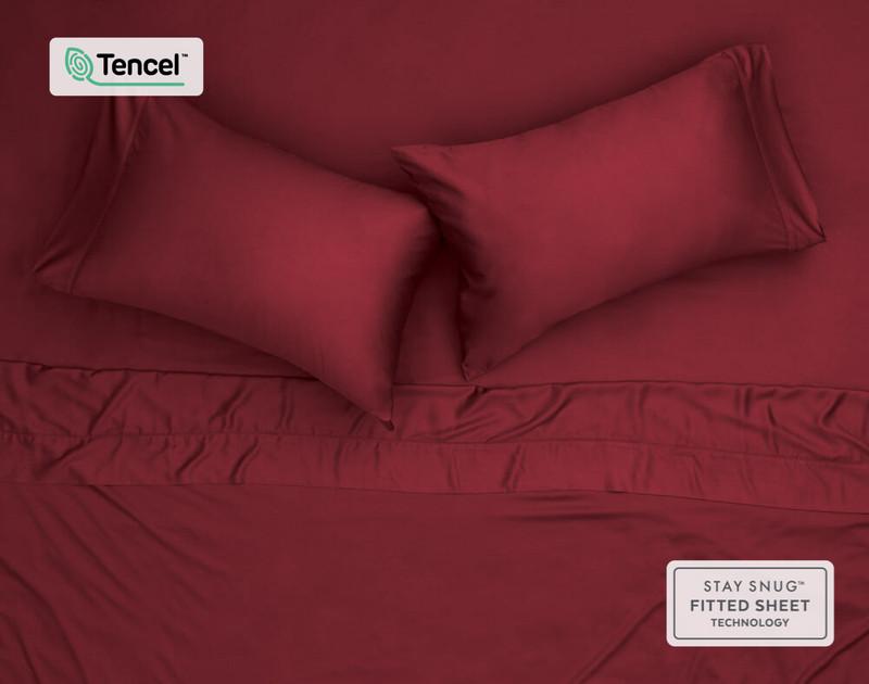 BeechBliss TENCEL™ Modal Pillowcase, top down view.