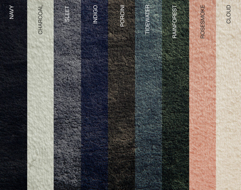 Cashmere Touch Fleece Blanket, available colourways.