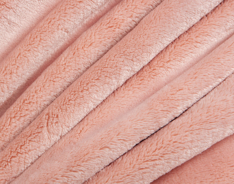 Close up of texture on Cashmere Touch Fleece Blanket in